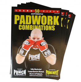 Punchfit® 50 Pad Work Boxing Combinations Book