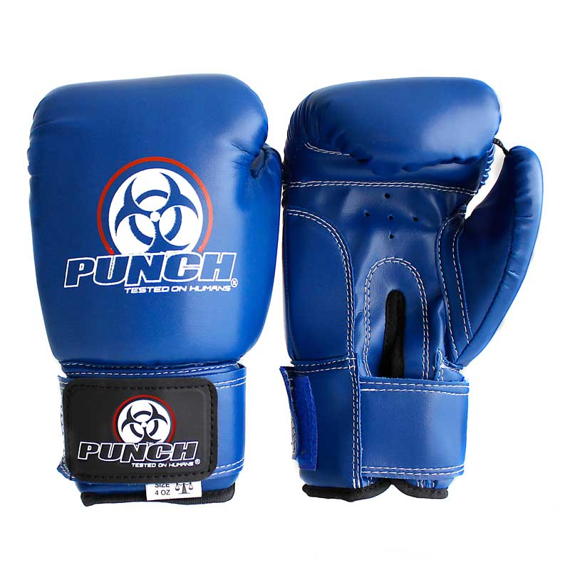 Junior Boxing Gloves Urban 4 Oz Black Blue Red