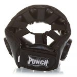 Top lace section of the Punch Open Face Boxing Headgear V30