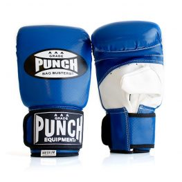 Punch Boxing Bag Gloves Busters Blue