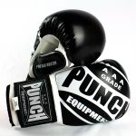 Pro Bag Busters Boxing Mitts Black White 1