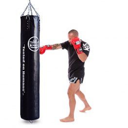Black Boxing Punching Bag 6ft Trophy Getters Action 1