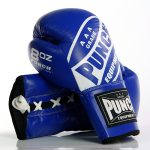 Blue Lace Up Boxing Gloves 1 2020