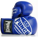 Blue Lace Up Boxing Gloves 2 2020