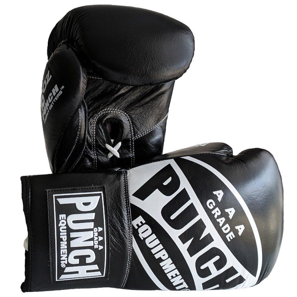 Boxing Gloves 16 Oz Lace Ups Black1