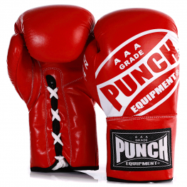 Red Lace Up Boxing Gloves 1 2021 255