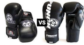 Urban vs Pro Urban Leather Boxing Gloves