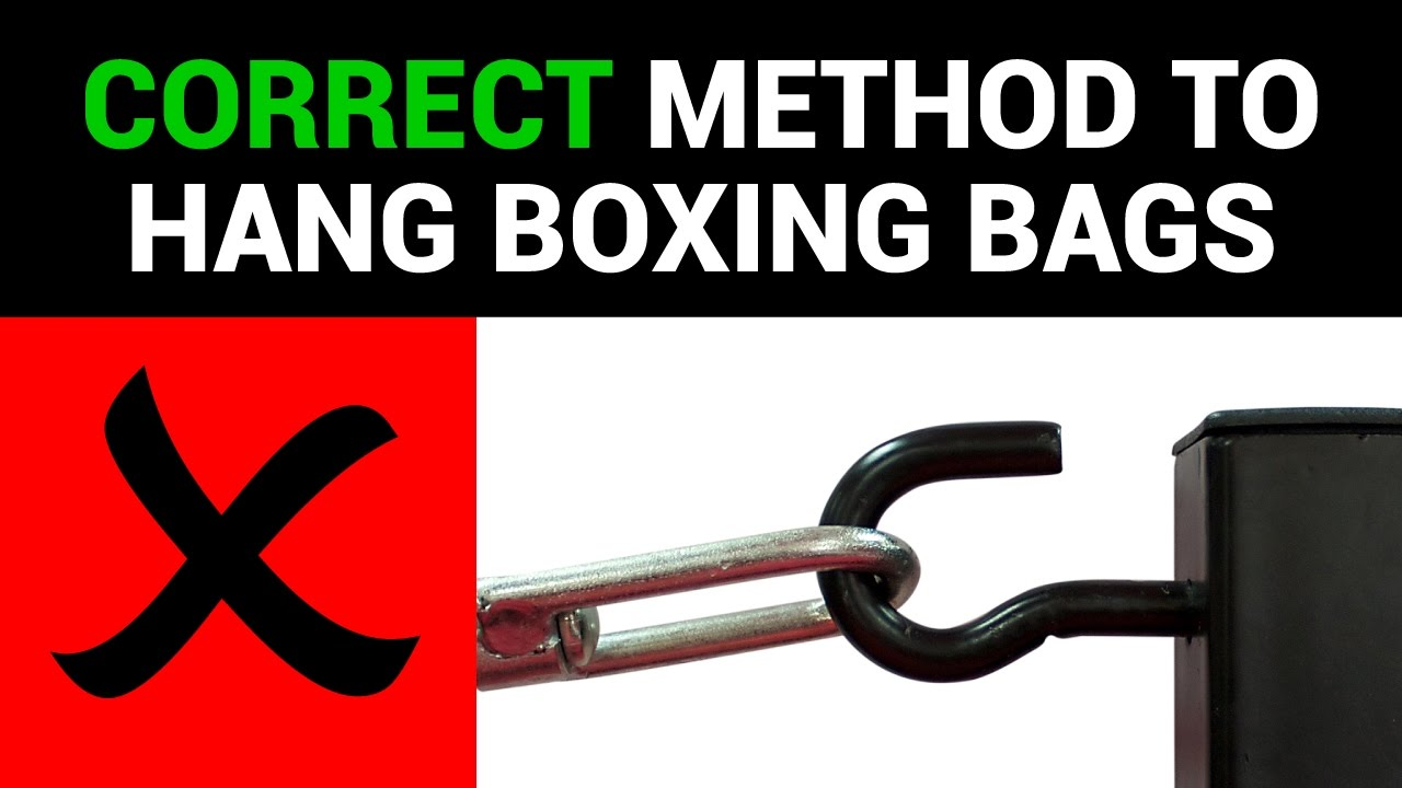 Hanging a Boxing bag instructions