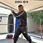 Male wearing the Punch sauna suit