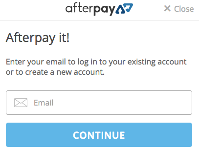 Afterpay after checkout process