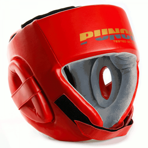 Right angle of the red Urban Open Face Headgear
