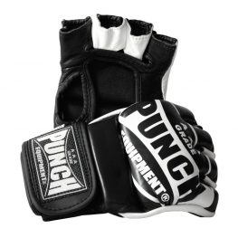 MMA Training Mitts 1 Black White