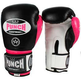 Punch Trophy Getter Boxing Gloves Black Pink