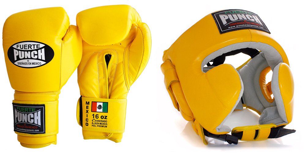 Mexican Boxing Gloves and Headgear