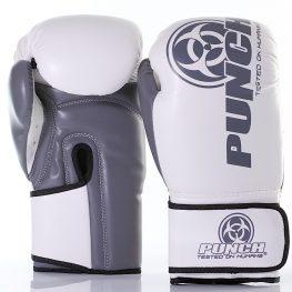 White Grey Urban Boxing Gloves 12oz