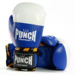 Style shot of the blue Armadillo Safety Boxing Gloves