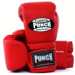 Matte Red Fuerte Elite Boxing Gloves
