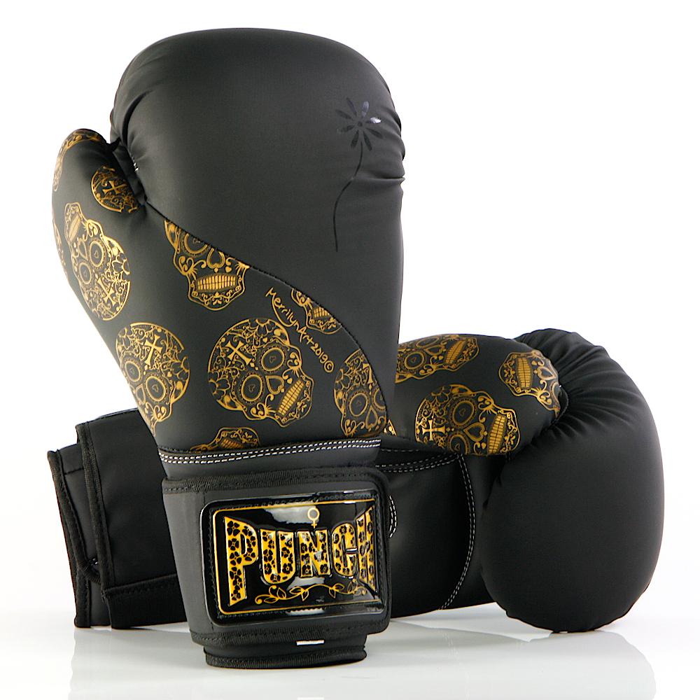 Gold Skulls Boxing Gloves 1 2020