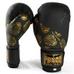 Gold Skulls Boxing Gloves 4