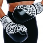 Lifestyle Womens Boxing Gloves Lip Art Black