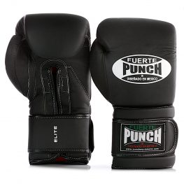Pair of Mexican Fuerte Boxing Gloves in matte black