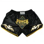 Punch Retro Muay Thai Shorts Black Online