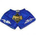 Retro Blue Muay Thai Shorts