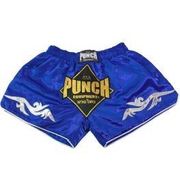 Retro Blue Muay Thai Shorts