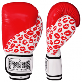 Womens Boxing Gloves – Lip Art – Red