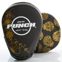 Womens Focus Pads Black Gold Skull 1 2020