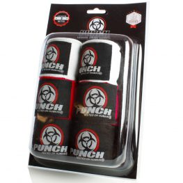 Urban Hand Wraps Black Red White 1