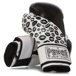 Womens Boxing Gloves Lip Art in black and white