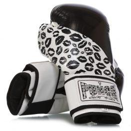 Womens Boxing Gloves Lip Arts – Black