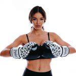 Black Lip Art White Boxing Glove