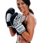 Black White Ladies Boxing Glove