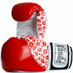 Womens Boxing Gloves Red Lip Art 2