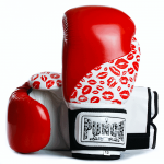 Womens Boxing Gloves Red Lip Art 1
