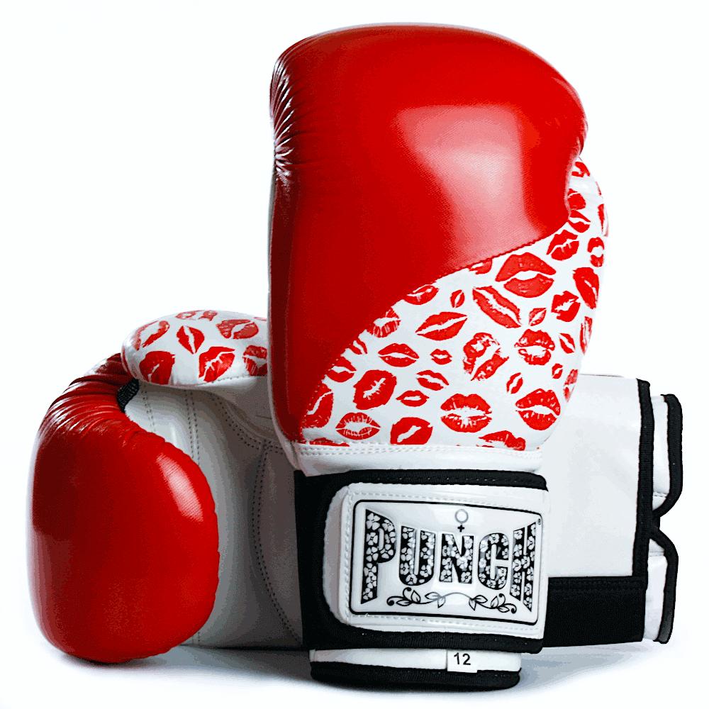 Womens Boxing Gloves Red Lip Art 1