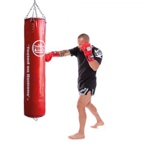Red Boxing Punching Bag 5ft Trophy Getters Action 1