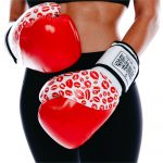 Red Lip Art Womens Glove