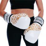 White Gold Female Boxing Gloves