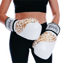 White Gold Female Boxing Gloves