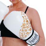 White Gold Ladies Boxing Gloves