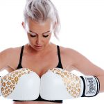 White Gold Lip Art Gloves Online