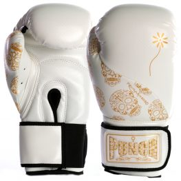 womens boxing gloves white gold skull 1 2021
