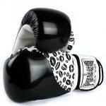 Womens Boxing Gloves Lips Black White 2