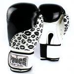 Womens Boxing Gloves Lips Black White 3