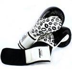 Womens Boxing Gloves Lips Black White 4