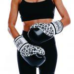 Womens Training Gloves Black White