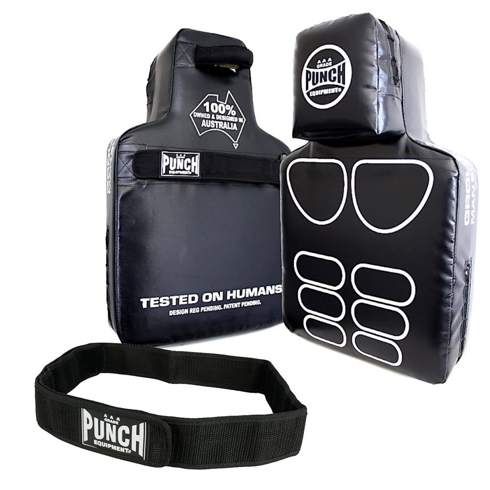 Punch Equipment Man Shield With Strap